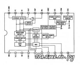 Схема Аудиоплеера AM-FM приемника Sony-WM-FS111 › Паятель