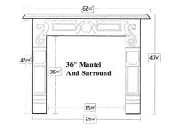 Fireplace Surround Dimensions Pictures to Pin on Pinterest ...
