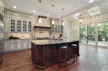 Luxury Kitchen Islands with White Cabinets