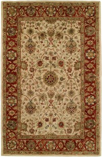 Empire EM-280 Ivory Red Rug by Kalaty