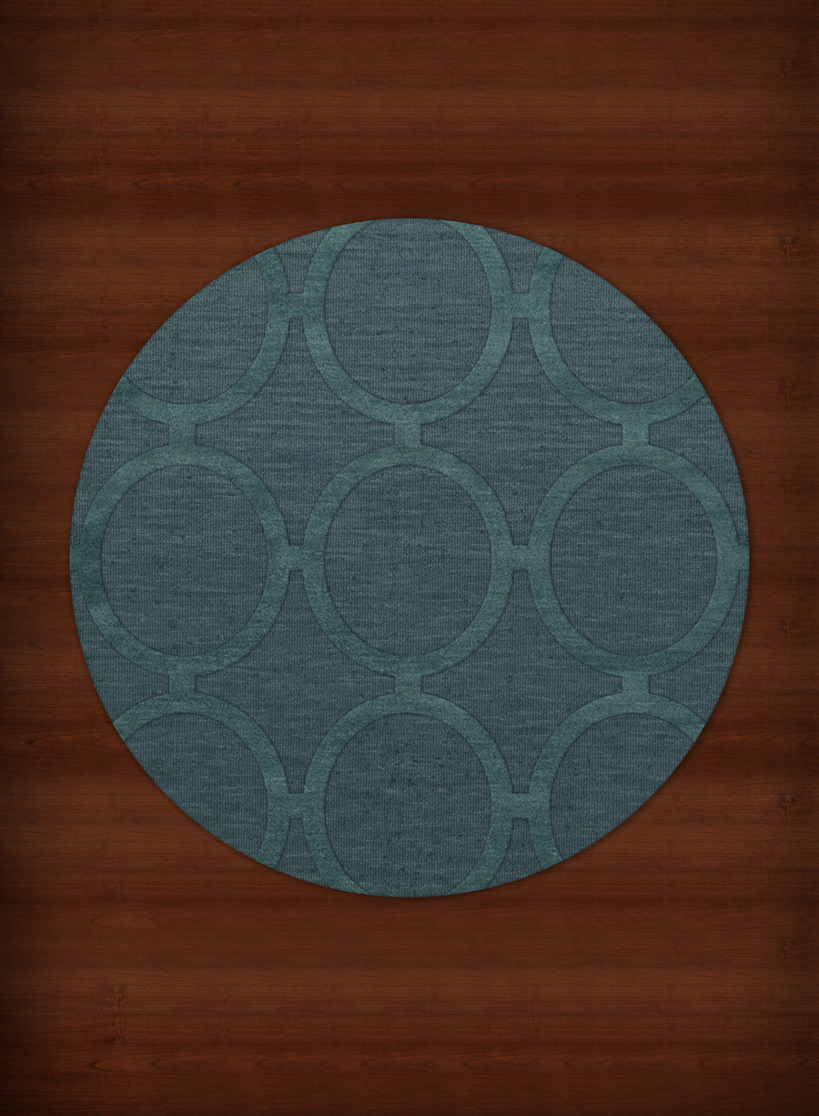 Payless Troy TR14 144 Teal Round Rug