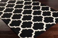 Modern Black and White Area Rug