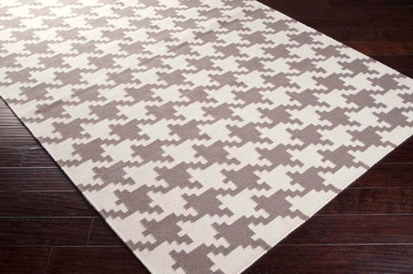 Gray Houndstooth Rug