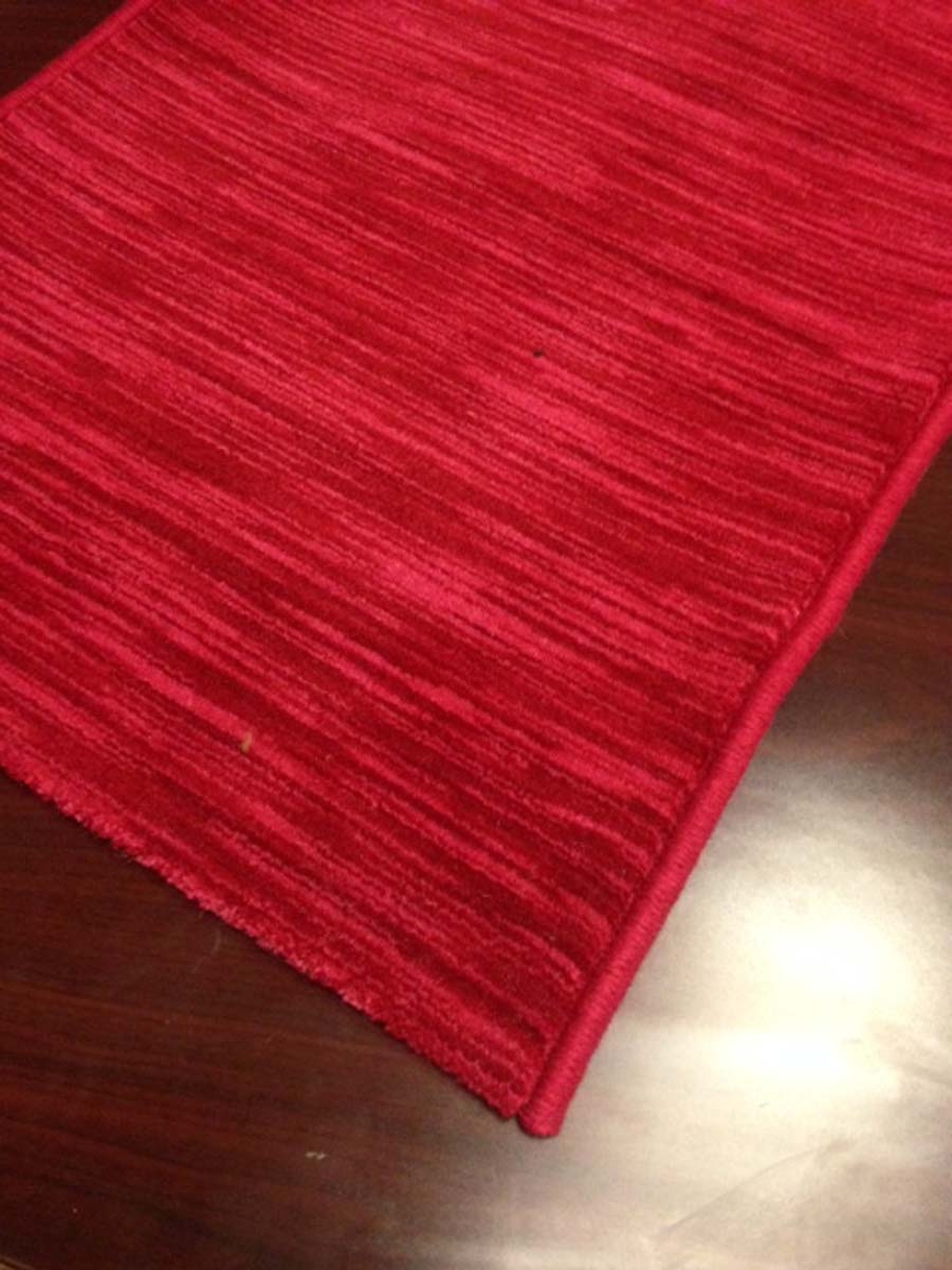 Solid Burgundy Red Hallway And Stair Runner 113700   Solid Color Stair Runners   Non Slip   Rectangle   Rubber Backed   Modern Stair   Flooring
