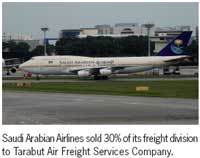 Middle East: Saudi Airlines sells 30% of freight division