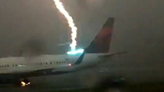 delta lightening strike