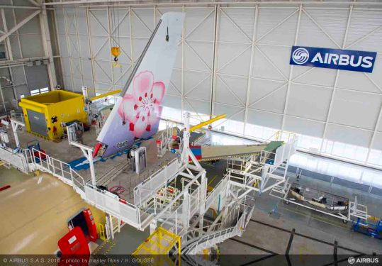 First China Airlines A350XWB takes shape