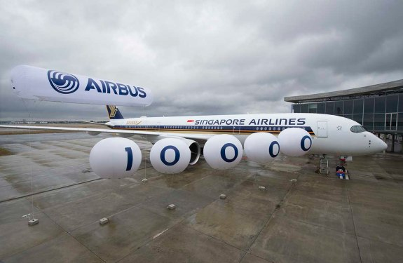 Airbus delivers 10,000th aircraft to Singapore Airlines