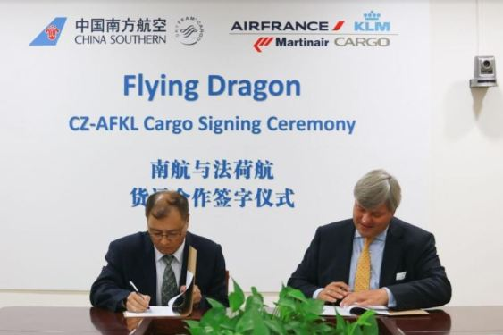 China Southern Airlines Cargo and Air France KLM Martinair Cargo intensify strategic cooperation