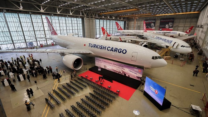 Turkish Airlines' first Boeing 777 freighter