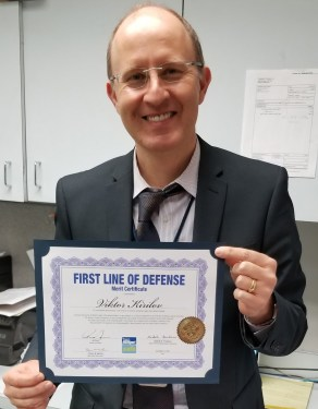 WFS General Manager in Boston awarded with 'First Line of Defense' merit