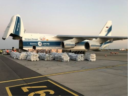 Volga-Dnepr operates charter flight to deliver aid for refugees in Greece