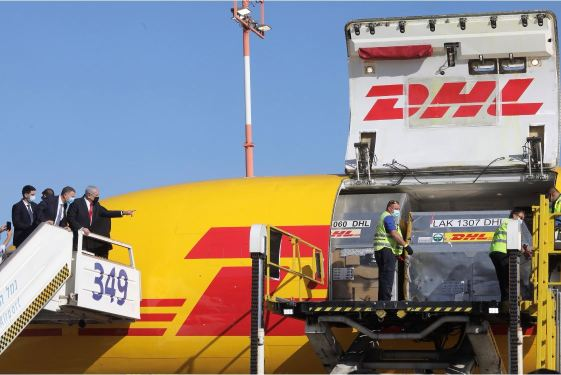 DHL Express kicks off global vaccine distribution, makes first stop in Israel