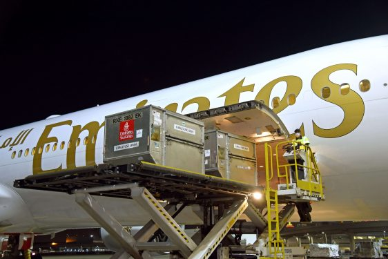 Emirates SkyCargo delivers Covid-19 vaccine to UAE