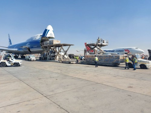 deugro ships project cargo by air from Egypt to China