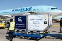 Korean Air Brings First Vaccines to Korea