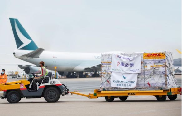 Cathay adds capacity on HKG-BRU for pharma deliveries