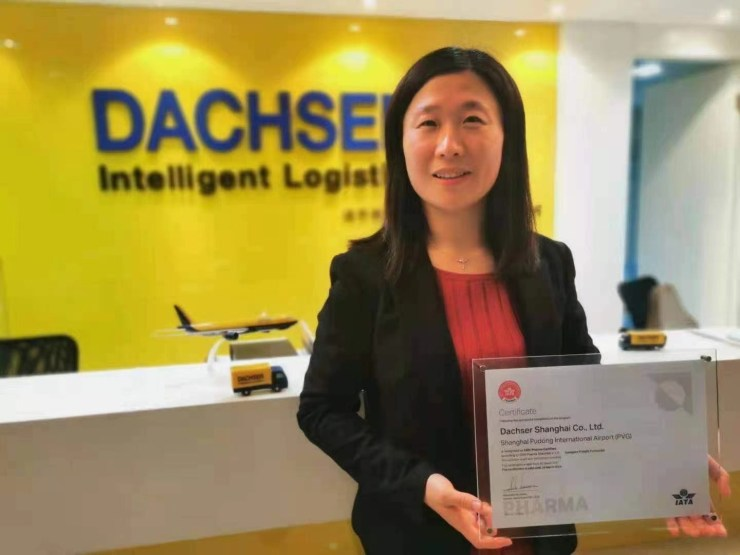Dachser Shanghai is recognized as CEIV Pharma Certified by IATA