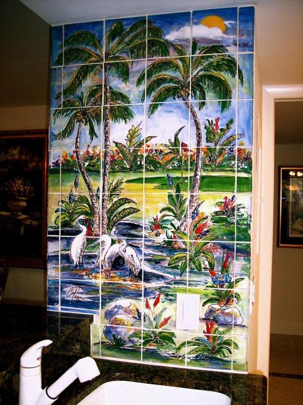 Custom Kitchen Backsplash Murals Amp Hand Painted Tiles In