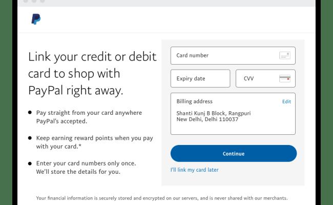 Paypal Guide How To Link A Card Paypal Dubai Khalifa