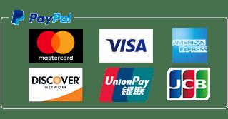 ペイパル|Mastercard,VISA,American Express,JCB