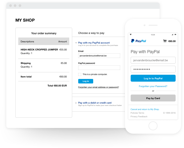 Start getting paid online with PayPal