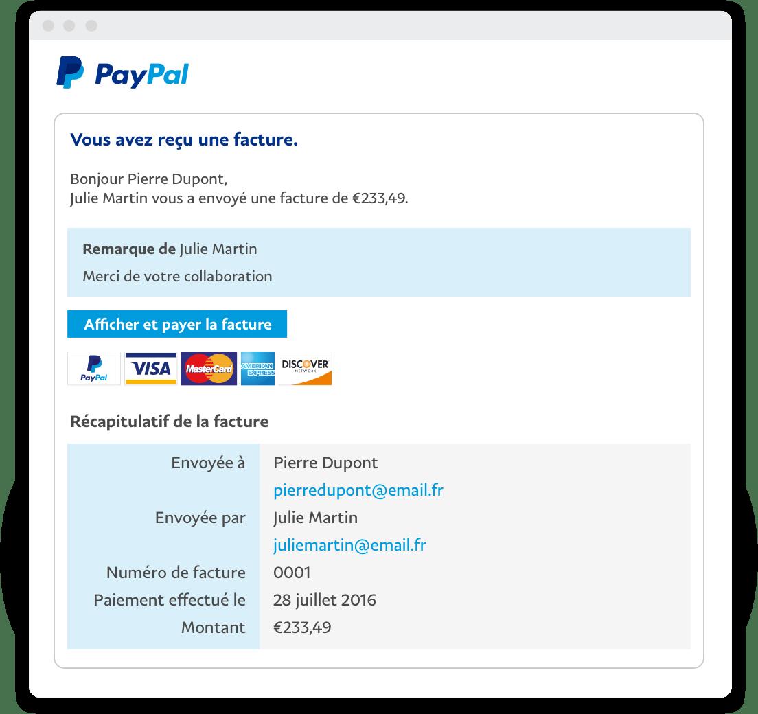 Factures en ligne  Factures lectroniques  PayPal FR