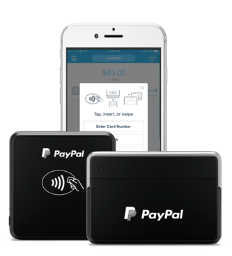 Image result for paypal chip and swipe card reader