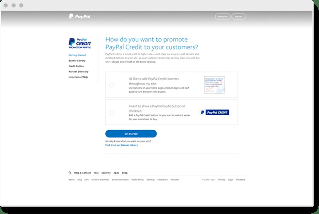 PayPal Credit Promotion Portal