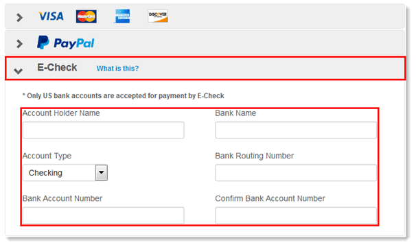 How to make a deposit with Echeck