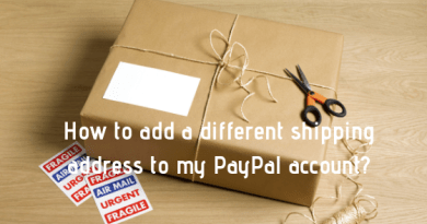How to add a different shipping address to my PayPal account_