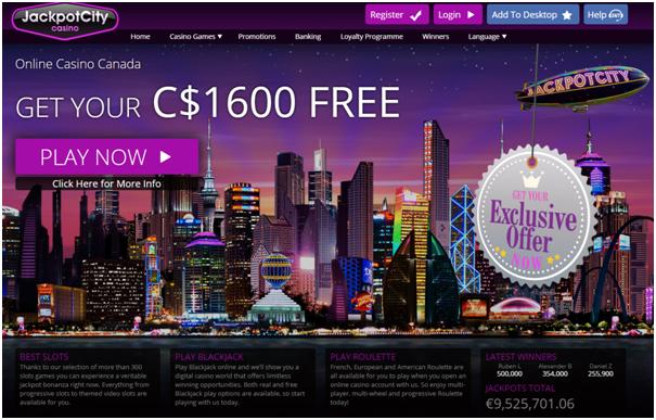 Jackpot City Casino Canada