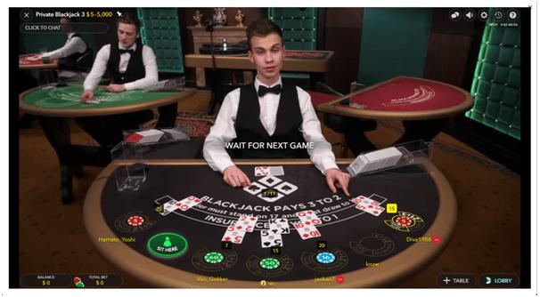 Live casino at Spin Casino