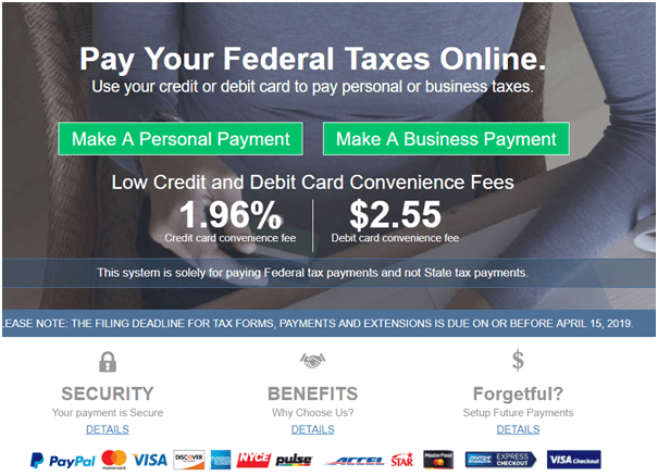 Pay your tax through PayPal