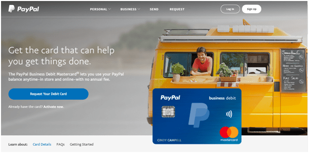 Paypal buisness debit cards