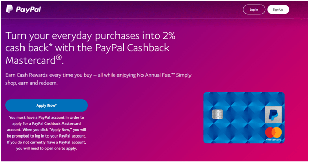 PayPal cashback master card