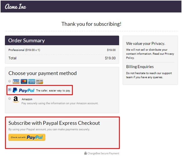 how to use Express checkout