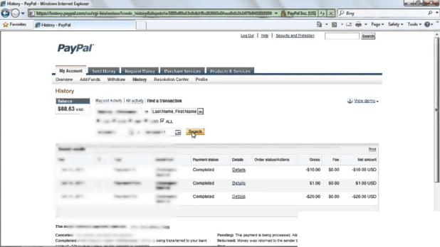 Refund status of Paypal
