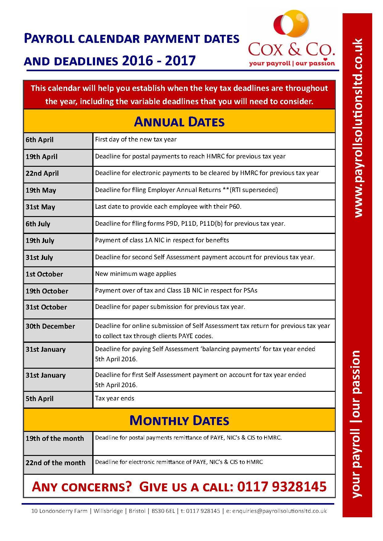Fafsa Deadlines Payroll Calendar Hmrc Tax Dates And Deadlines
