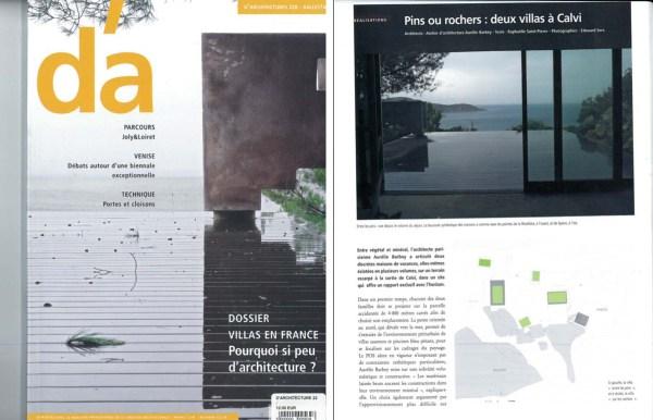 D'ARCHITECTURE – AOUT 2014 – Maison pins – Calvi