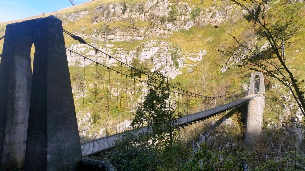 passerelle Holzarte randonnée canyon
