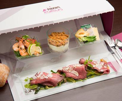 le service de livraison haut de gamme avec repas de bureau