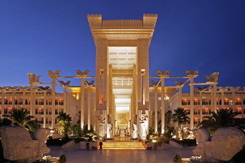 The 7-star Dariush Grand Hotel on Kish Island (click on the link above for more pictures and information on the Hotel).