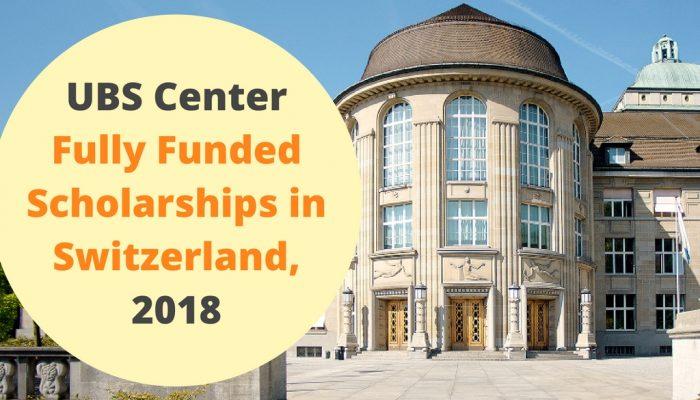 "Résultat de recherche d'images pour ""International UBS Center Full Scholarships at University of Zurich in Switzerland 2018"""