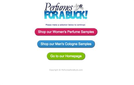 perfumesforabuck-açılış-sayfası