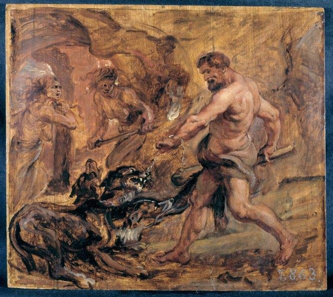 Doceavo trabajo de Heracles: traer vivo a Cerbero