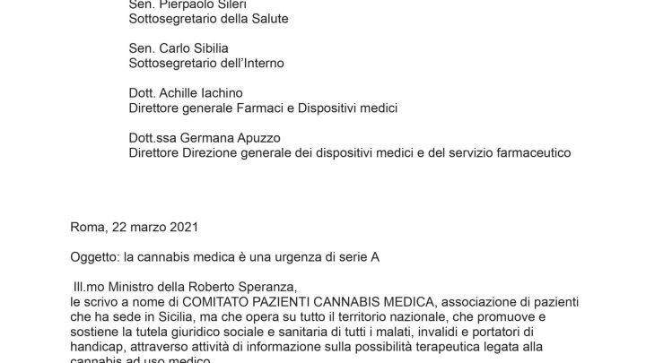 cannabis lettera ministri