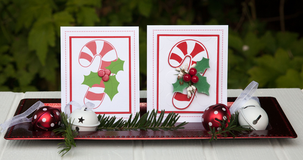 Candy Cane Christmas Cards Two Ways Pazzles Craft Room