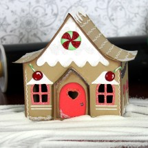 Gingerbread Village Country Cottage House - Pazzles Craft