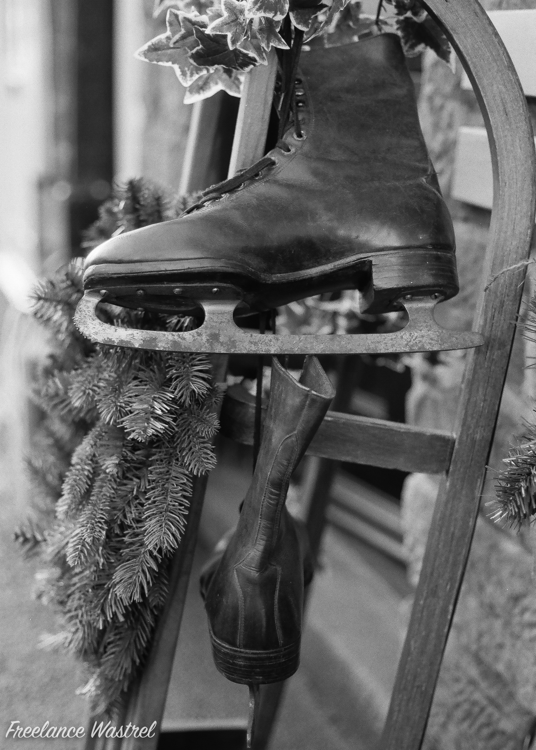 Vintage Ice Skates, Belper, December 2017